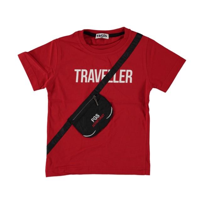 T-shirt Traveller red