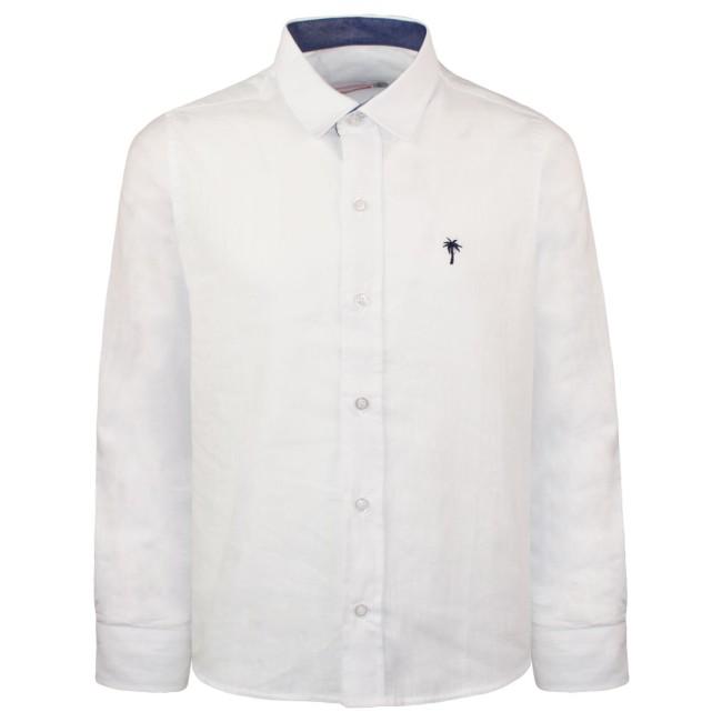Λινό πουκάμισο λευκό