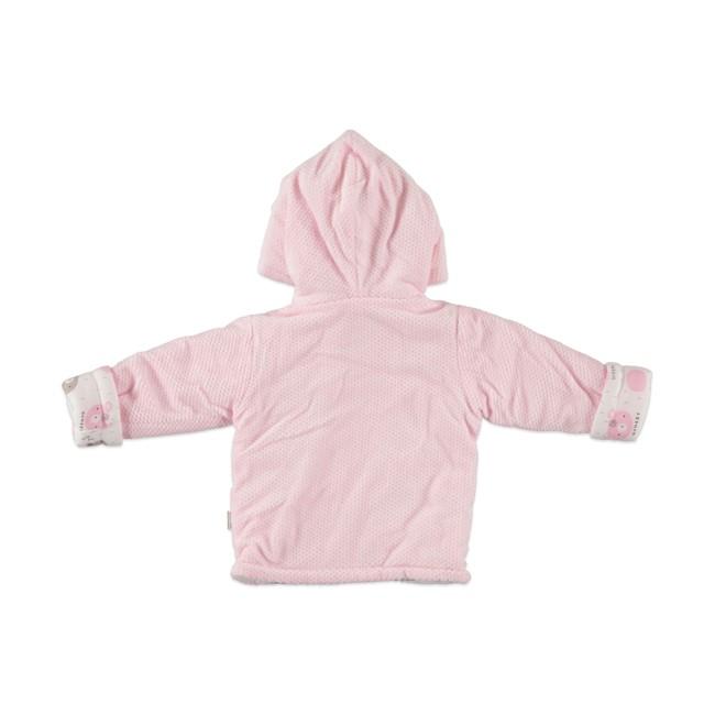 Βρεφική ζακέτα εξόδου pink happy bear