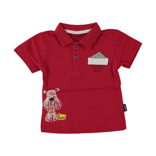 Βρεφική μπλούζα polo κόκκινη
