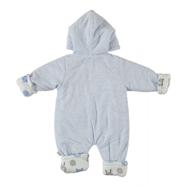 Βρεφική φόρμα εξόδου blue happy bear