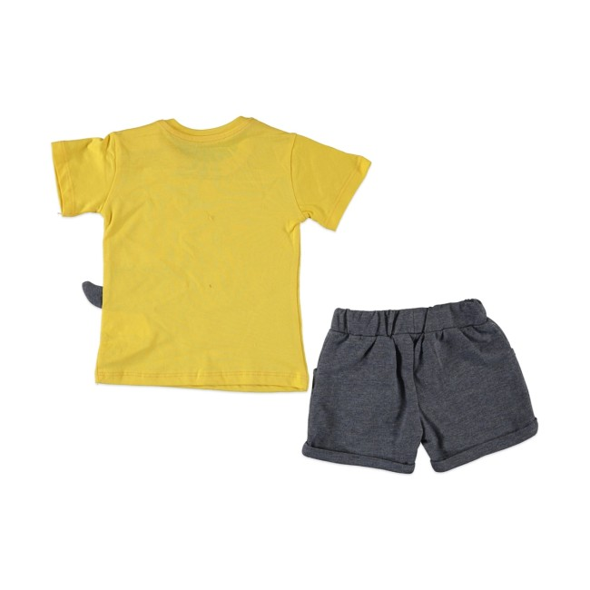 Βρεφικό σετ cool dino yellow