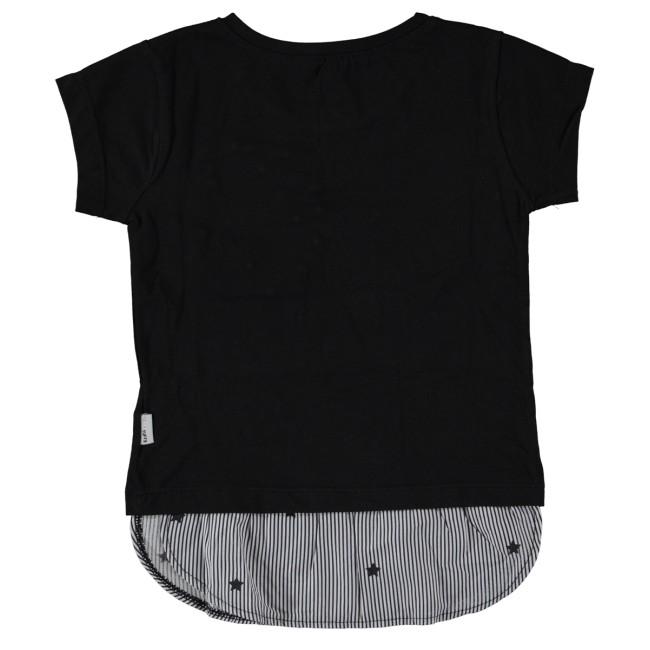 T-shirt love star μαύρο