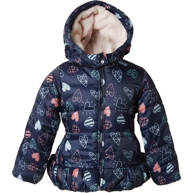 Παιδικό μπουφάν μπλε με καρδιές