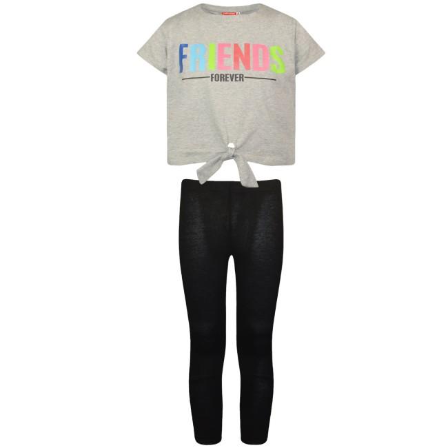 Σετ κολάν και μπλούζα Friends μαύρο